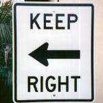 funny sign keep right