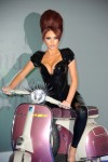 Amy Childs Hot Sexy Beehive Moped Black Leather PVC (2)