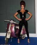 Amy Childs Hot Sexy Beehive Moped Black Leather PVC (6)