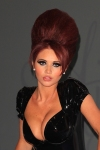 Amy Childs Hot Sexy Beehive Moped Black Leather PVC