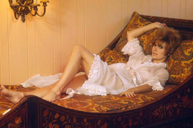 Jill St John Hot Sey See Though Bed