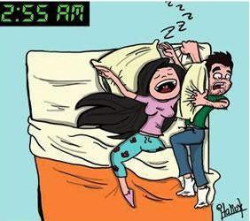 bed hogging
